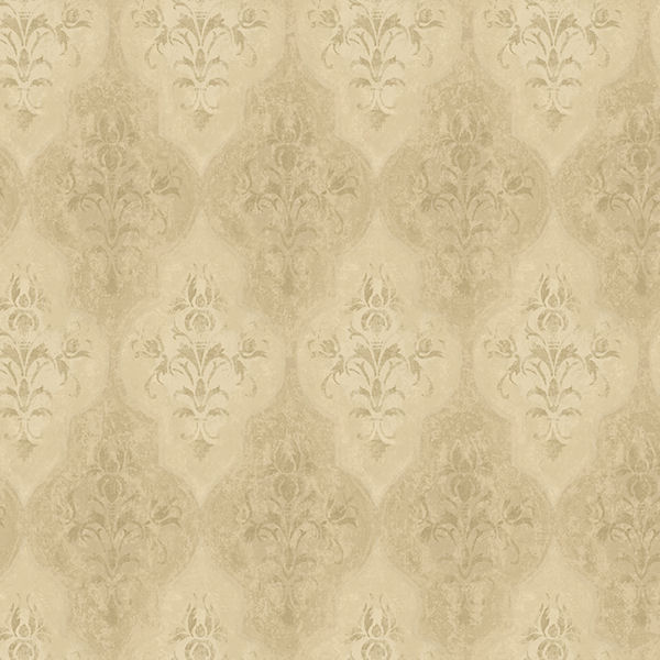 metallic gold moroccan damask wallpaper