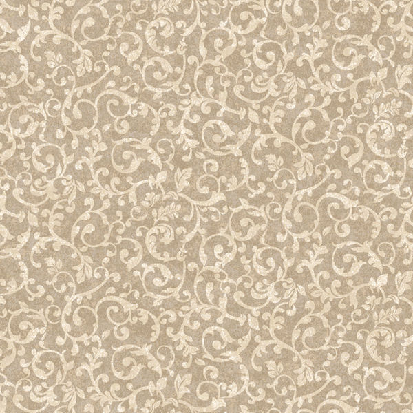 brown and gold small scroll wallpaper