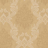 Gold Ogee Damask Wallpaper