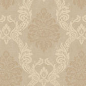 Cream Ogee Damask Wallpaper