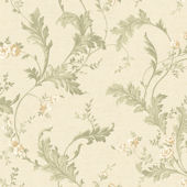 Cream Delicate Acanthus Wallpaper