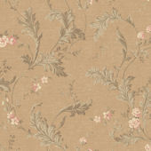 Antique Gold Delicate Acanthus Wallpaper