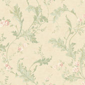 Gold Delicate Acanthus Wallpaper