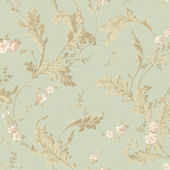 Green Delicate Acanthus Wallpaper