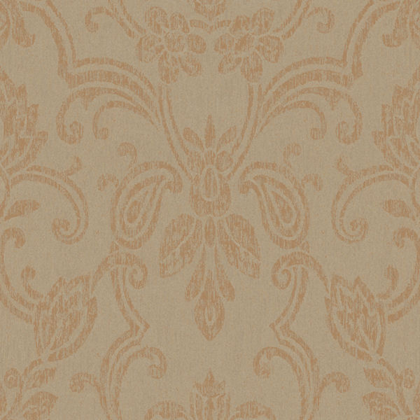 metallic gold romantic damask wallpaper