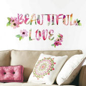 Beautiful Love Watercolor Wall Decals