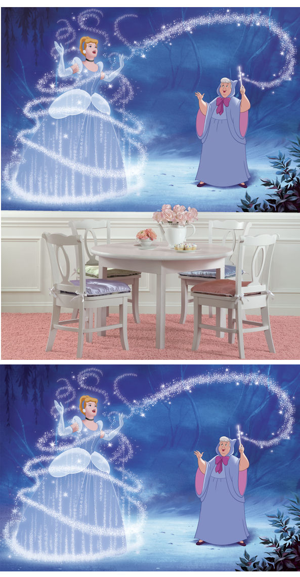 Disney cinderella magic xl wall mural for Cinderella wall mural