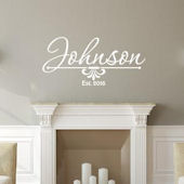 Family Personalized Line Monogram Wall Decal