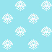Blue with White Damask Spot Wallpaper SALE