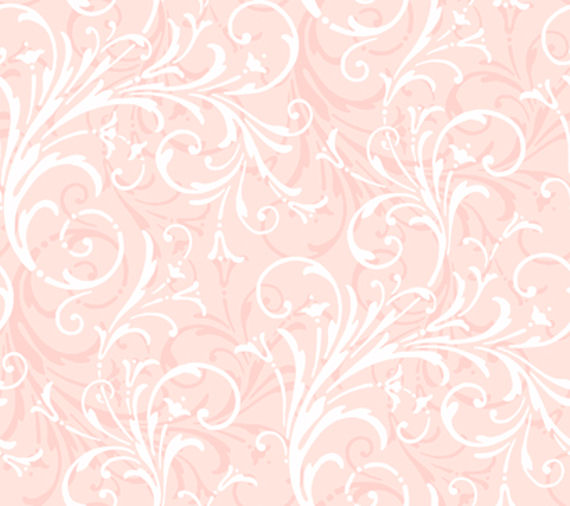 Light Pink Layered Scroll Wallpaper