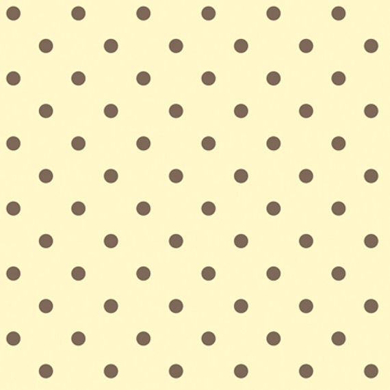 Yellow With Brown Circle Sidewall Wallpaper