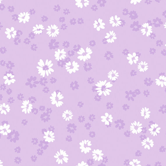 Purple Floral Toss Wall Paper
