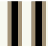 Grey and Brown Triple Treat Stripe Wallpaper SALE