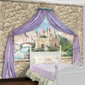 Castle Canopy Princess Pre Pasted Mural