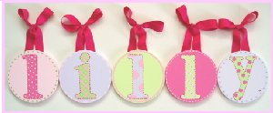 Lilly Circle Wooden Wall Letters - Kids Wall Decor Store