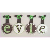 Evie Circle Wooden Wall Letters