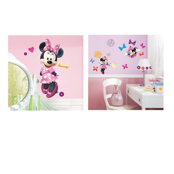 Minnie Mouse Bowtique Giant Decal Room Package - Wall Sticker Outlet