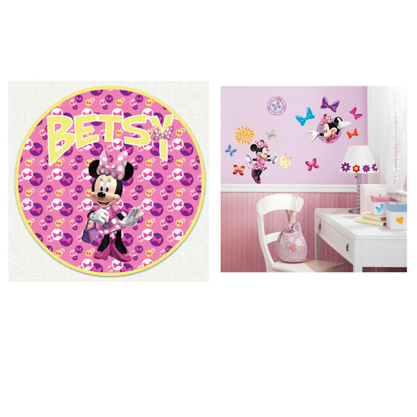 Minnie Mouse Bow-tique Custom Decal Room Package - Wall Sticker Outlet