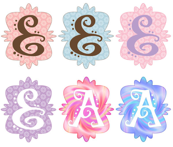 Mod Monogram E Wall Sticker in 6 Colors - Wall Sticker Outlet