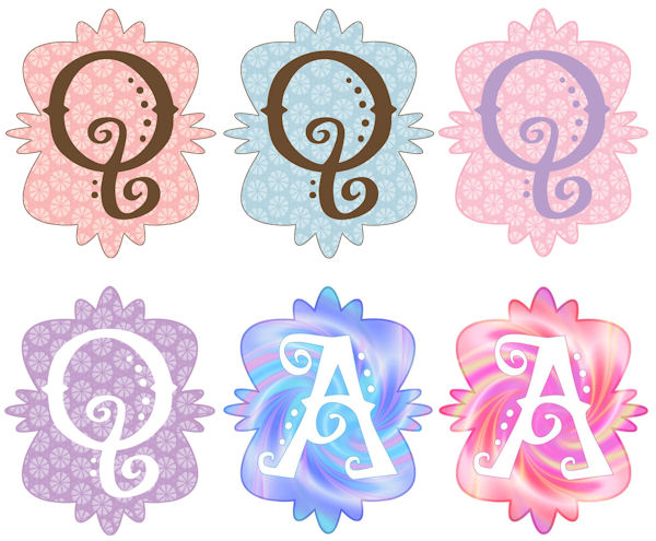 Mod Monogram Q Wall Sticker in 6 Colors - Wall Sticker Outlet