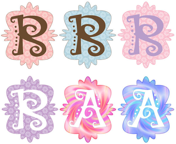 Mod Monogram R Wall Sticker in 6 Colors - Wall Sticker Outlet