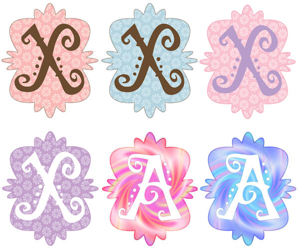 Mod Monogram X Wall Sticker in 6 Colors - Wall Sticker Outlet