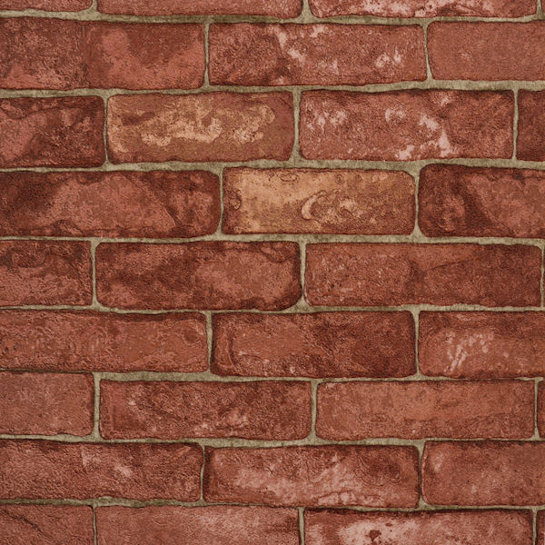 red rustic brick wallpaper sale