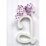 Wooden Hanging Wall Letter with Ribbon