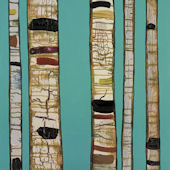 Birch Trunks Wall Art