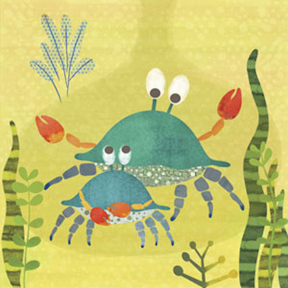 Crab Pals Canvas Wall Art - Wall Sticker Outlet