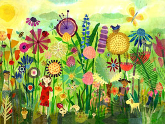 Garden play time wall art for Mural garden
