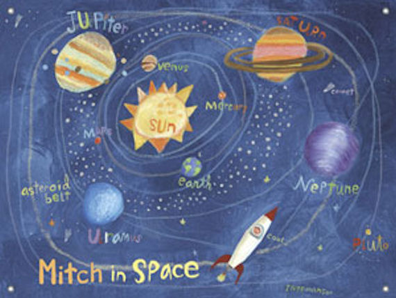 In Space Mural Banner