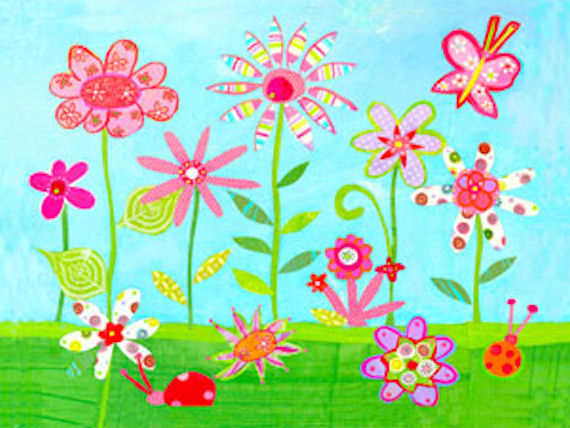 how to make a flower garden for kids