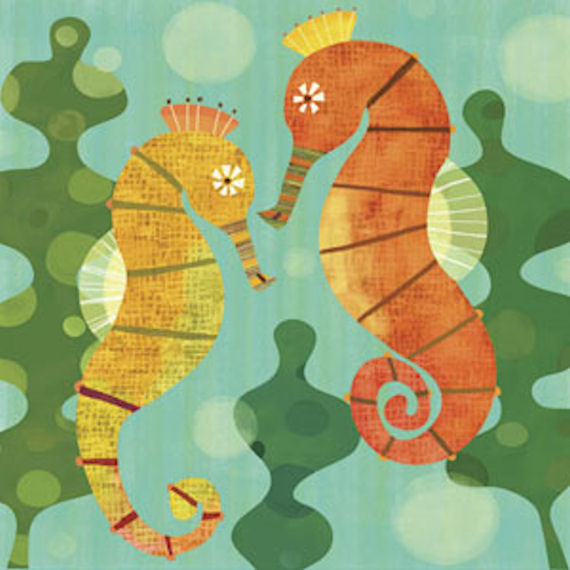 Seahorse Pals Canvas Wall Art - Wall Sticker Outlet