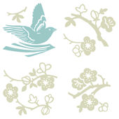 Birds and Blossoms Kidifexs Wall Stickers