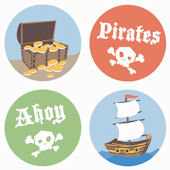 Ahoy Pirates Kidifexs Wall Stickers