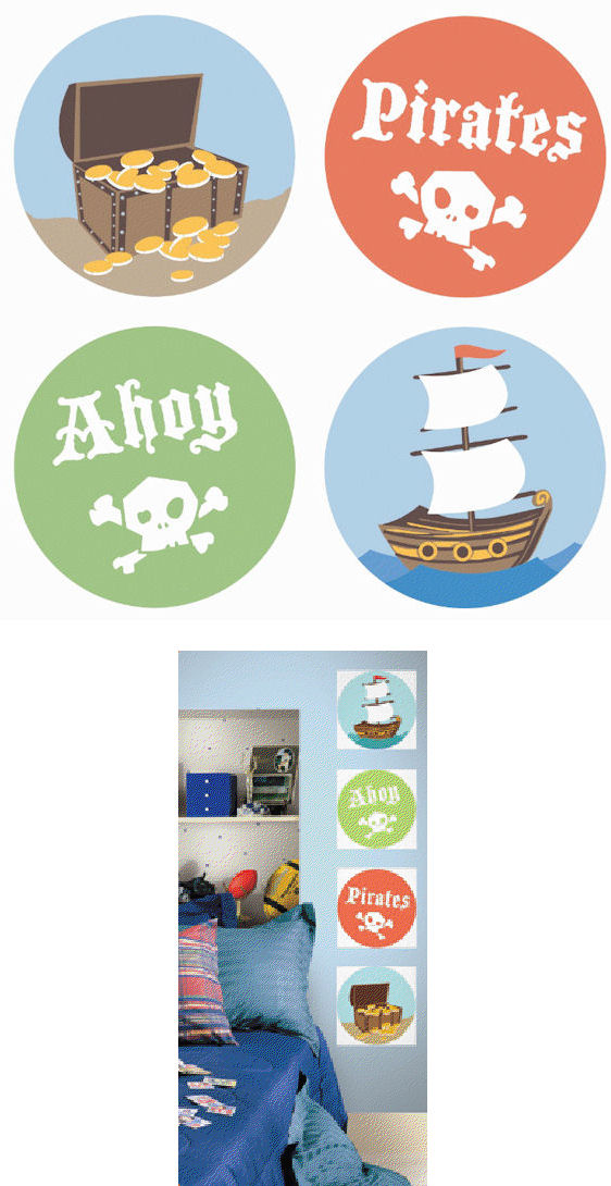 Ahoy Pirates Kidifexs Wall Stickers - Kids Wall Decor Store