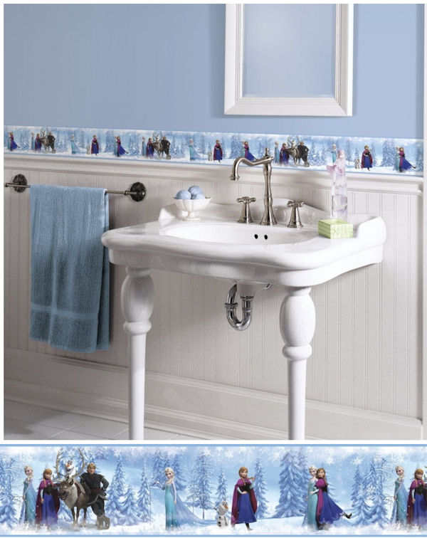 Disney Frozen Peel and Stick Wall Border - Wall Sticker Outlet