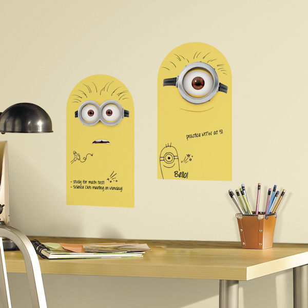 Minion Dry Erase Peel and Stick Wall Decals - Wall Sticker Outlet