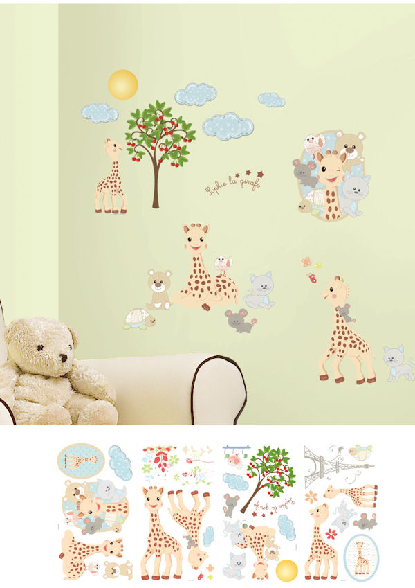 Sophie La Girafe Peel and Stick Wall Decal - Wall Sticker Outlet