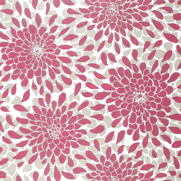... Bouquet Wallpaper - Wall Sticker Outlet Hot Pink And Grey Background
