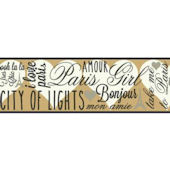 City Of Lights SB7556B Wallpaper Border