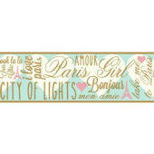 City Of Lights SB7557B Wallpaper Border