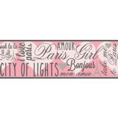 City Of Lights SB7558B Wallpaper Border