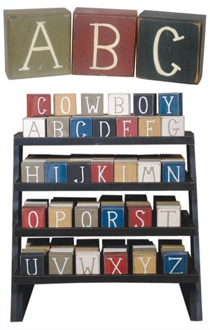 ABC Rustic Blocks - Kids Wall Decor Store