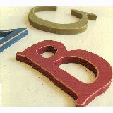 Rustic Wooden Wall Letters - Small