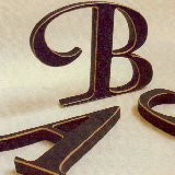 Vintage Wooden Wall Letters - Small