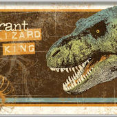 Tyrant Lizard King Wall Minute Mural