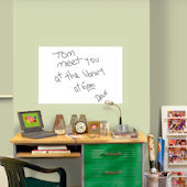 Large White Dry Erase Peel and Stick Decal