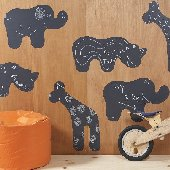 Chalkboard Animals Wallcandy